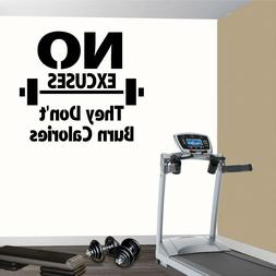 Fitness Wall Decals. Gym. Exercise: No Excuses They Don't Bu