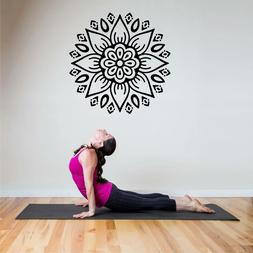 Fitness Wall Decals. Gym. Exercise: YOGA Mandala.