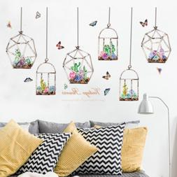 Fleshy Basket Butterfly Bedroom Wall Sticker Decal Girls Roo