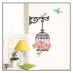 flower bird cage removable font b wall