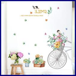 Flower Wall Art Decal Removable Stickers Peel & Stick Decals