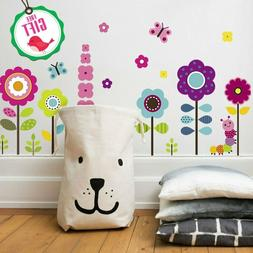 Flower Wall Stickers For Kids Floral Garden Decals Girls Roo