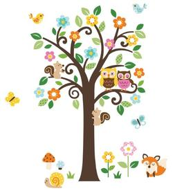 Flowers Tree & Forest Animals Giant Baby/Nursery Wall Sticke