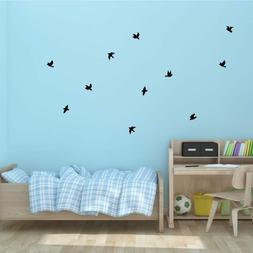 Flying vinyl Birds easy to apply-Vinyl Wall Decals- Pick Col