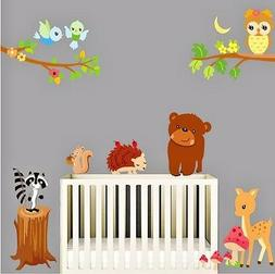 forest animals wall kids decals kids room