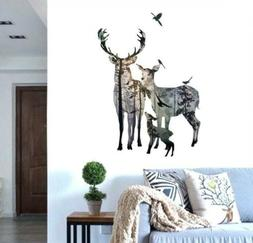 BIBITIME Forest Silhouette Deer Wall Decal Reference,
