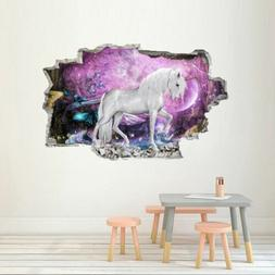 Forest Unicorn Wall Sticker For Kids Room 3D Effect Wall Dec