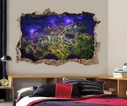 Fortnite View 3D Smashed Wall Sticker Decal Decor Art Mural