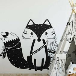 Fox Animal Wall Stickers Wall Decals Kids Rooms Baby Room Ho
