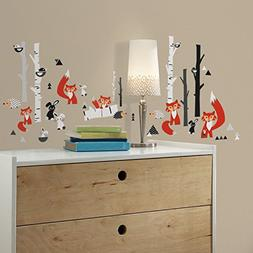 fox forest peel stick wall