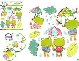 FROGS glitter 3D wall stickers 21 colorful decals room decor