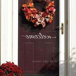 Diggoo Front Door Welcome Sign Welcome Wall Decal Home Decor