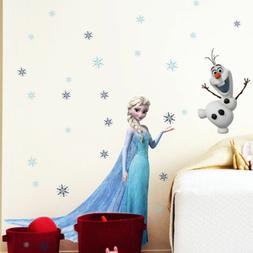 Frozen Princess Elsa Olf Snowflakes Mural Wall Sticker for G
