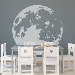 Full Moon Wall Decal - pick a lighter vinyl color for the mo