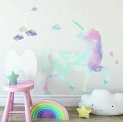"Galaxy Unicorn Giant 35"" WaLL DeCaLS Rainbow Pastel Room Dec"
