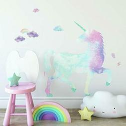 RoomMates Galaxy Unicorn Peel And Stick Giant Wall Decal Wit