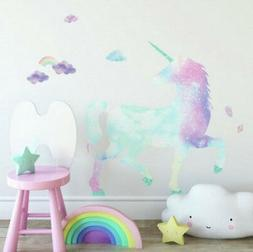 GALAXY UNICORN wall stickers MURAL 17 decals with GLITTER cl