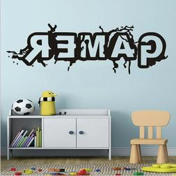 GAMER Letter Room Quote Wall Art Stickers Decals Vinyl Kids