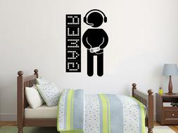 Gamer Wall Decals Game Controllers Gaming Video Game Boy Roo