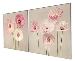 Gardenia Art - Pink Flowers Modern Canvas Wall Art Paintings