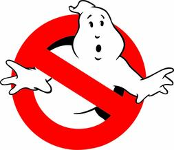 GHOSTBUSTERS LOGO VINYL 3M USA MADE DECAL STICKER TRUCK WIND