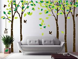 """Amaonm 104""""x71"""" Giant Large Jungle 5 Trees Wall Decals Green"""