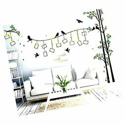 Amaonm® Giant Large Family Photo Tree Wall Decal Decor Bird