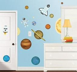 OUTER SPACE GiaNT WALL DECALS NeW Planets Stars Rockets Stic