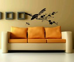 Gift Wall Vinyl Sticker Decals Mural Design Bird On Branch W
