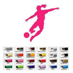 Girl Soccer Sports decal sticker for home window wall door d