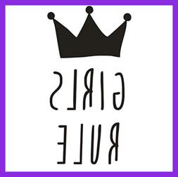 Girls Bedroom Wall Decal Crown Design Quotes Girl Rule For K
