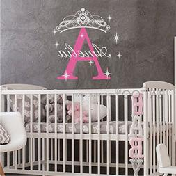 BATTOO Girls Name Wall Decal- Princess Wall Decal- Personali