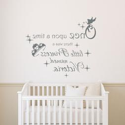 Girls Name Wall Decals Once Upon a Time Decal Quote Vinyl St