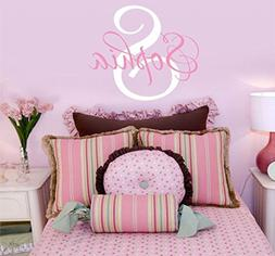 Girls Nursery Personalized Custom Name Wall Decals, Baby Wal