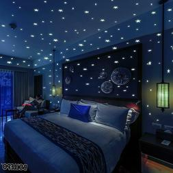 Glow In The Dark Star And Dots 332 3D Wall Stickers For Kids