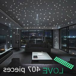 Glow In The Dark Stars Round Wall Stickers 407 Dots for Ceil