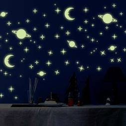 Glow In The Dark Wall Stickers Space Stars and Planets Lumin