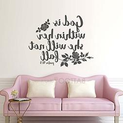 BATTOO God is Within her Scripture Wall Decal Quotes Psalm 4