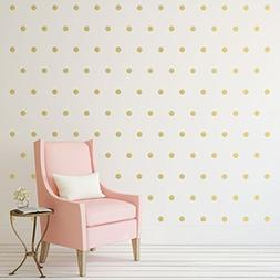 Gold Polka Dots Wall Decals  Removable Peel And Stick Metall