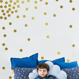 Gold Wall Decal Dots 200 Decals Easy To Peel Easy to Stick +