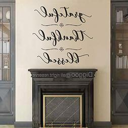 Diggoo Grateful Thankful Blessed Wall Decal Quote Faith Viny