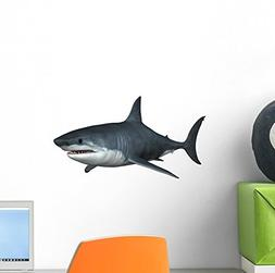 Wallmonkeys Great White Shark Wall Decal Peel and Stick Anim