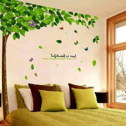 Green Tree Large Beautiful Quote Wall Decals Sticker Removab