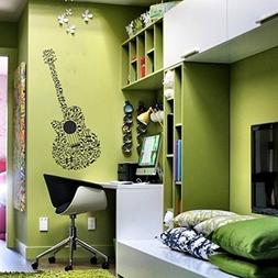 SCOOPTOUR WALL ART Guitar Music Wall Decal Musical Notes Sti