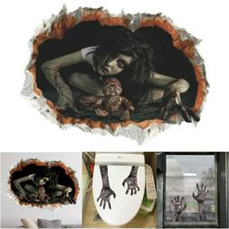 Halloween 3D Scary Wall Stickers Decoration Art Ghost Mural