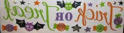 HALLOWEEN wall stickers 20 decals TRICK OR TREAT candy bat c