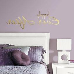 HAPPILY EVER AFTER QUOTE Wall Decals Gold Foil Fairytale Roo