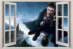 Harry Potter Hogwarts 3D Window View Decal Graphic WALL STIC