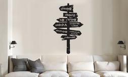 HARRY POTTER HOGWARTS ROAD SIGN WALL QUOTE DECAL VINYL DECOR