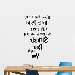 Harry Potter Quote Wall Decal Movie Poster Vinyl Sticker Bed